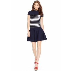 Polo Ralph Lauren Navy Striped Sweater Dress